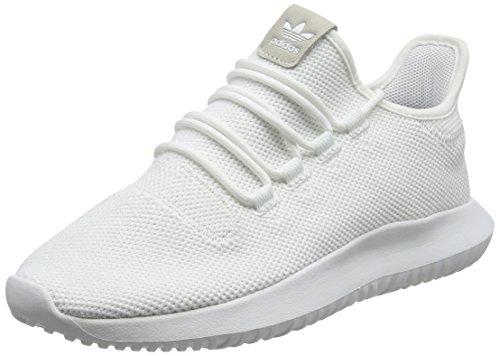 White Hat Shadow (adidas Unisex-Erwachsene Tubular Shadow Sneakers, Weiß (Footwear White/Core Black/Footwear White), 42)