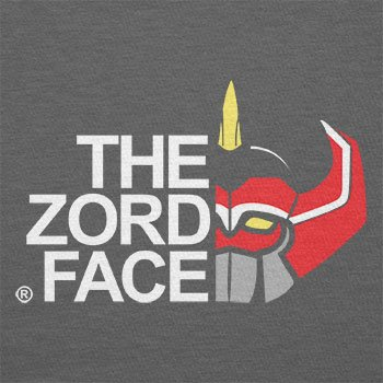 Texlab – The Zord Face – sacchetto di stoffa Grau
