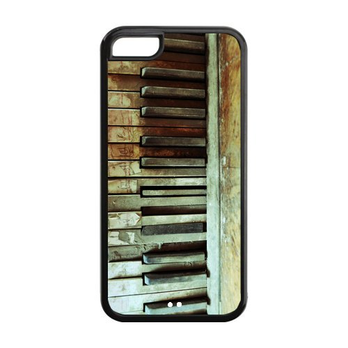Customized Piano Fashion iphone 5C Case Cover de Black Best Protective TPU Cover