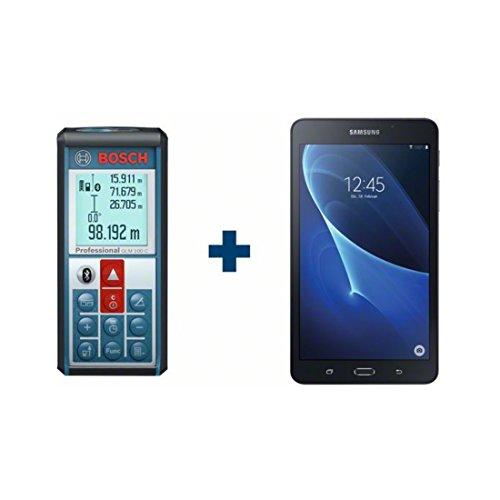 Preisvergleich Produktbild Bosch Laser-Entfernungsmesser GLM 100 C, mit Samsung Galaxy Tab A -84383757