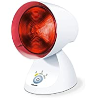 Beurer IL 35 Infrarotlampe, wohltuende Wärme zur Behandlung von Erkältungen und Muskelverspannungen, 150 Watt