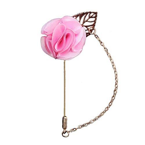 Carry stone 1X Damenmode Elegante Blumenbrosche Herren Anzug Brosche Revers Abzeichen Kostüm Accessoies für Geschenk Rosa Hohe Qualität