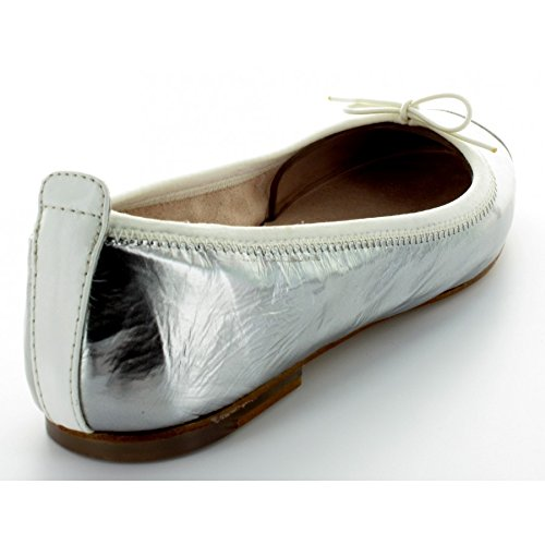 Bloch Luxury Ballet Flat, Chaussons Sneaker Femme Argent