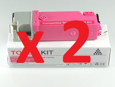 2-x-high-quality-compatible-magenta-toners-for-dell-1320-1320c-1320-c-1320cn-1320-cn-593-10261-page-