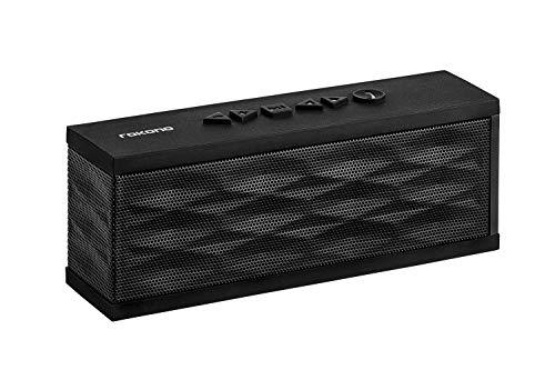 Rokono SoundGo F200 Mobiler Bluetooth Lautsprecher Wireless Speaker mit reinem Bass und eingebautem Mikrofon für iPhone, iPad, Samsung, Nexus, HTC und andere Android Geräte (Schwarz)