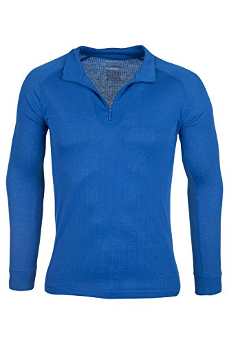 Mountain Warehouse Talus Mens Baselayer Top - Long Sleeve Shirt, Zip Neck, Quick Drying T Shirt, Breathable Spring Tee, Lightweight - Great for Travelling & Easy to Pack