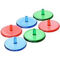 100pcs Golfball Position Rund Marker Transparent Kunststoff Maker