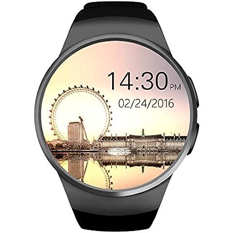 KW18 Reloj Inteligente Smart Watch IP67 impermeable antipolvo 1,3 pulgadas, Bluetooth 4.0 frecuencia cardíaca sensor para IOS & Android- fase de seguimiento / seguimiento / apagado Sedentario alarma / perdido Anti - Negro