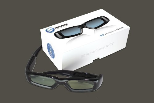 UNIVERSAL 3D SHUTTER 3D BRILLE FÜR SONY, Panasonic, LG, Samsung(LCD/LED), Philips, Sharp, Toshiba, Mitsubishi 3D TVs (Achtung: Produktmerkmale zwecks Kompatibilität beachten)