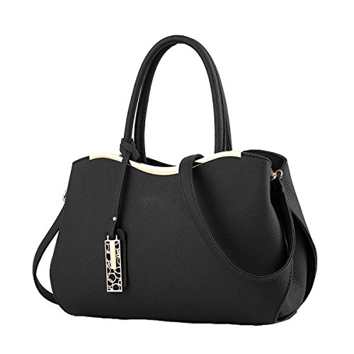 Damen Handtasche Umhängetasche Messenger Bag Mode Mehr Wilde Rucksack Nieten Black