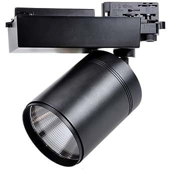 Guli - Plafonnier Led Projecteur Sur Rail 30w 3000k Blanc Chaud Finition Noir