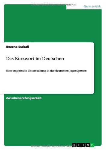 Das Kurzwort im Deutschen