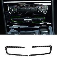 Accesorios de coche de fibra de carbono estilo ABS cromado modo de botón marco cubierta triple 2 piezas
