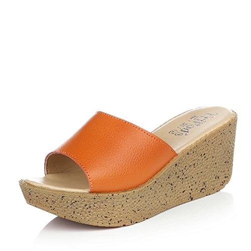 l'estate Lady di pantofole/indossare le infradito sandali/Scarpe da donna/pendenza focaccina coreana conScarpe da donna/moda Pantofole donna/Scarpe con la suola spessa A