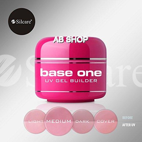 Base Cover (Base One Cover Medium 30g UV Gel Nails Camouflage Builder File Off Gel Silcare)