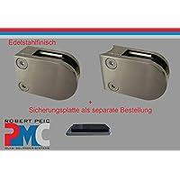Pmc Acero Inoxidable finisch Pinza de soporte conector plano Cristal Acero Inoxidable aspecto Glass Clamp Mod: 09