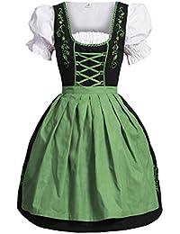 ae6de393cdfcff Bongossi-Trade Dirndl 3 TLG.Trachtenkleid Kleid, Bluse, Schürze, Gr.