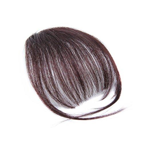 Frcolor Fashion One Piece Clip in Haar Pony /Franse Haar mit Clip gefälschte Haarteile für Alltag Cosplay Karnoval (Dunkelbraun) Fringe Pony