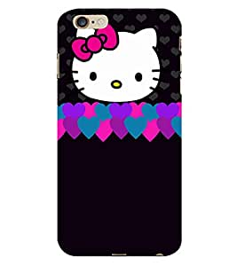 Cute Love Cat Pattern 3D Hard Polycarbonate Designer Back Case Cover for Apple iPhone 6