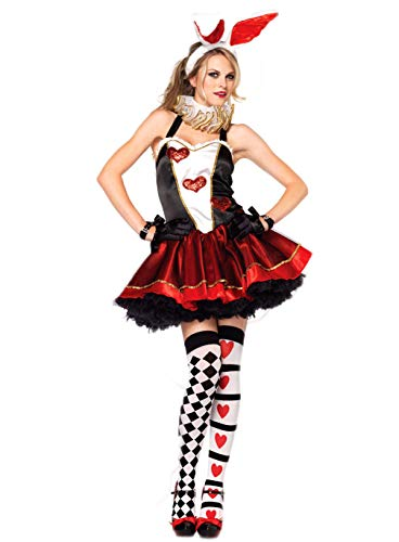 Fortuning's JDS® Frauen-reizvolles Häschen-Mädchen-Kleid-Ohr-Stirnband-Handschuhe Cosplay Spiel-Kostüm (3Pcs)