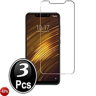Ferilinso Vetro Temperato Xiaomi Pocophone F1,[3 Pack] Pellicola Protettiva Protezione Schermo in Vetro Temperato Screen Protector Film con garanzia di sostituzione a vita perXiaomi Pocophone F1