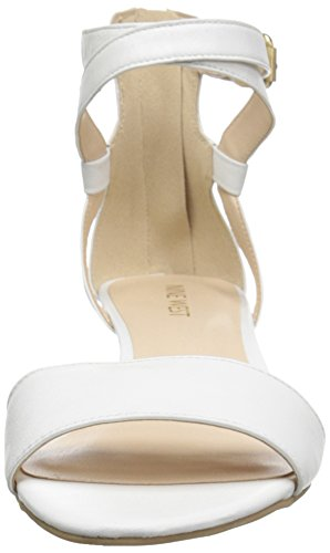 Nove pompa Wedge pelle Villian occidentale White