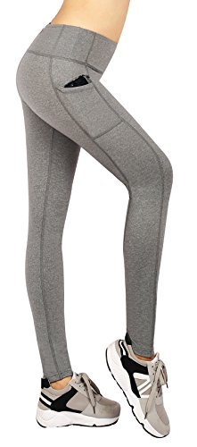 Munvot Damen Sport Leggings - TUMMY CONTROL - Hohe Taille Sporthosen Super für Fitness, Laufen, Yoga, Workout etc. (Pants Wide Leg Dance)
