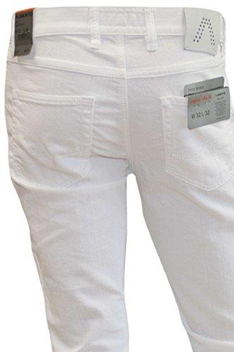 ALBERTO Jeans Luxury T400 Denim Modell Pipe weiss (white 100)
