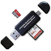 SD Card Reader, Ahomal USB OTG Adapter 2.0 Micro Portable Memory Card Reader for SD, Micro SD, SDXC, SDHC, Micro SDHC, Micro SDXC