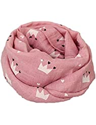 Hosaire Bebé Pañuelos de Cuello del Algodón del bebé Unisex de la Bufanda para Niños Niñas Patrón de Corona 135-175CM (Rose)
