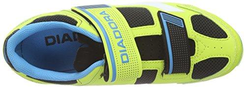 Diadora X Phantom Ii, Scarpe da Ciclismo Unisex – Adulto Giallo (jaune (lime/punch/blu fluo6035))