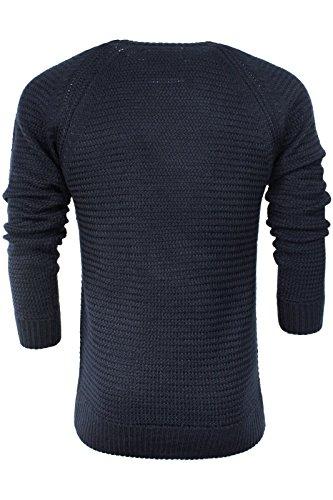 Brave Soul Herren Pullover Dunkles Marineblau