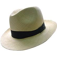 Gamboa - Cappello Panama Autentico Unisex Borsalino Ala Corta Capello di  Paglia 5c849b501834