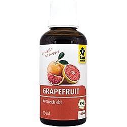 Raab Vitalfood Bio Grapefruit-Kernextrakt mit Bioflavonoiden, Tropfen, Rohware aus Südeuropa, vegan, bio-zertifiziert, laborgeprüft in Deutschland, 50 ml
