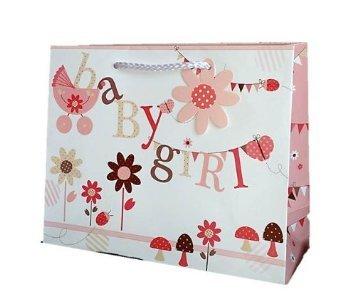 NEW Baby Girl Grand Sac cadeau cadeau et Lot. Lovely de haute qualité, papier épais. Convient pour bébé, nouveau bébé, baptême, douche, cadeau bébé Naming
