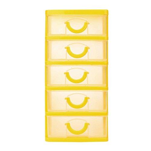 Durable Plastic Mini Desktop Schublade Diverses Case Kleine Objekte HKFV Mehrgeschossige Aufbewahrungsbox kleine Schubladenart (XL, Gelb) -