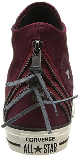 Converse Chuck Taylor All Star Femme Burnished Suede Tri Zip Hi - Sneaker, , taglia Bordeaux 018