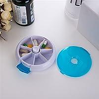 Preisvergleich für Kleitung Mini Pillendose Tablettenbox 7 Slots Drehbare Tablette Pillendose Tablettenbox Pillenbox Tablettendose...