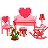 Rose International 3D Assembling Furniture Dressing Table Toy For Kids (Pink)