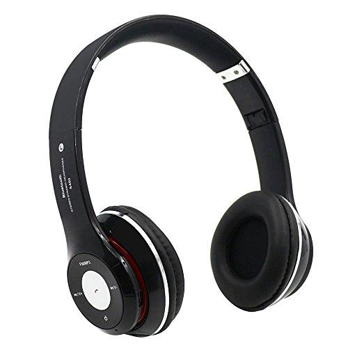Airmesh S460 Bandeau Pliable sans fil Bluetooth Casques V4.0 stéréo avec FM, fente pour carte TF Microphone intégré mains libres pour Iphone, Samsung, Tablet PC (Black)