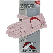 Kasco Fashion Fit - Guante de golf, color rosa, talla xl