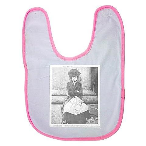 Audrey Hepburn Costumes - Pink baby bib with Audrey Hepburn sitting