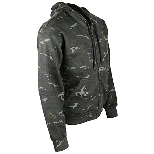 Kombat UK Men's Camo Hoodie Full Zip