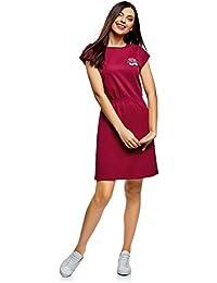 oodji Ultra Mujer Vestido con Elástico en la Cintura