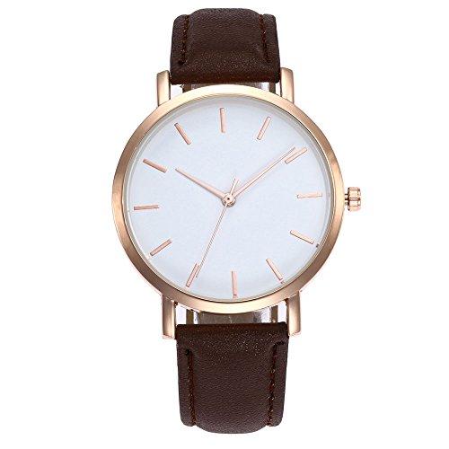 Preisvergleich Produktbild QINGXIA_ZI Uhren Damen Modisch Einfach Quarzuhr Mit Lederarmband Armbanduhren Für Frauen Geschenke Für Frauen Einstellbar Uhrenband Ultra-flach mit Leder-Armband