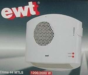 EWT cLIMA radiateur 44 vertikalheizlüfter mTLS sèche-mains