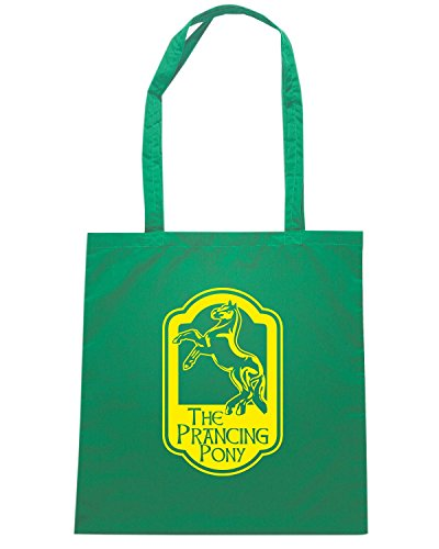 T-Shirtshock - Borsa Shopping T0682 the lord of the ring puledro impennato film inspired Verde