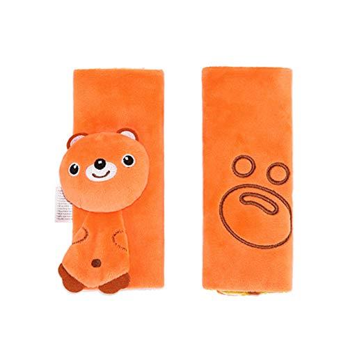 Newin Star Almohadillas para Cinturón de Seguridad,Protector de cinturón,Cinturón de Seguridad Cojín de Coche,Ajustable Protectores para la Cabeza para bebé (oso)