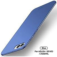 Funda Asus ZenFone 4 ZE554KL,Regalo Protector Pantalla Asus ZenFone 4 ZE554KL,JMGoodstore Alta Calidad Ultra Slim Anti-Rasguño y Resistente Huellas Dactilares Totalmente Protectora Carcasa Caso de Plástico Duro Cover Case (Azul)[Skin Series]