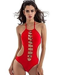 New-ec Femme Ensemble bikini Bandage Push Up rembourré maillots de bain sexy creux Maillot de bain Bain de bain